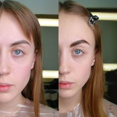 Оформление и окрашивание бровей, Дарья Денисова