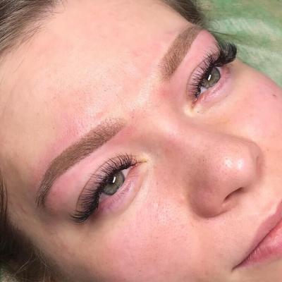 Татуаж бровей: напыление, Helen makeup